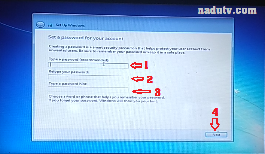 Set a password for your account