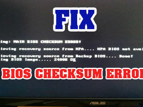 bios-checksum-error