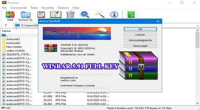 WinRAR 5.91 Full Key phần mềm nén và giải nén chuyên nghiệp