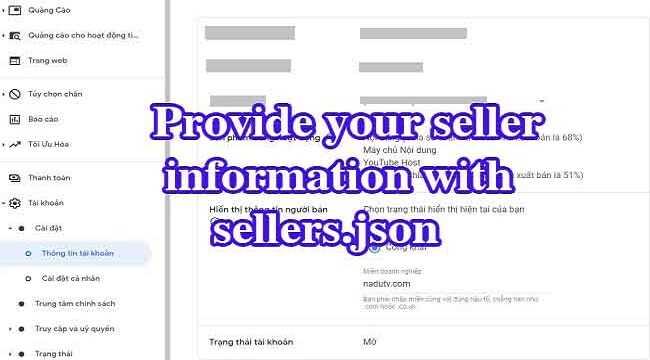 Thông tin người bán trong sellers.json của Google AdSense