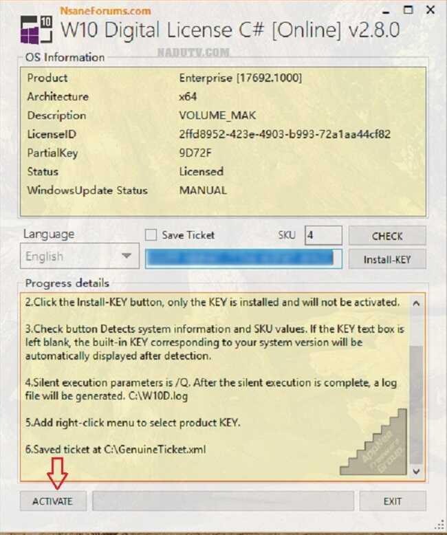 Kích hoạt bản quyền Windows 10