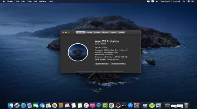 Cài đặt MacOs Catalina lên PC thành công