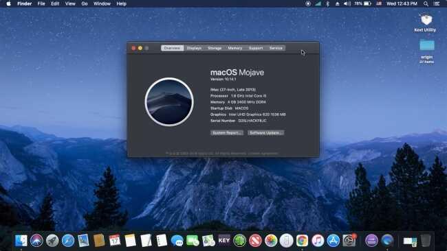 Cài đặt MacOS Mojave trên PC