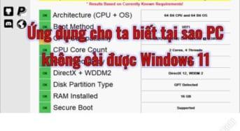 Máy tính không cài Windows 11 được là vì sao?