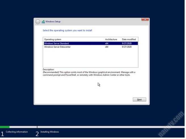 Windows Server 2019 20H2 tháng 10/2020
