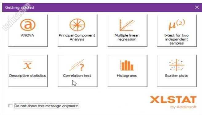 Phân tích thống kê dữ liệu bằng XLSTAT 2021 Excel add-on