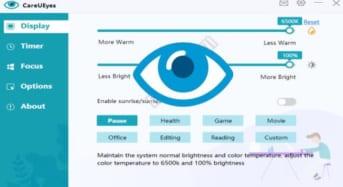 CareUEyes Pro giảm ánh sáng xanh bảo vệ mắt