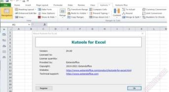 Tiện ích Excel Add-on 300 Chức năng trên tab của Kutools