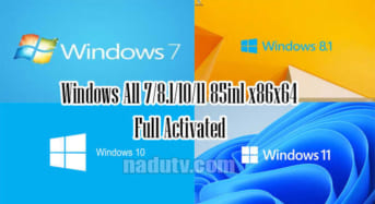 Windows All 7/8.1/10/11 85in1 x86x64 30/6/2021 Activated