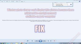 Window photo viewer can't display this picture… và cách sửa lỗi