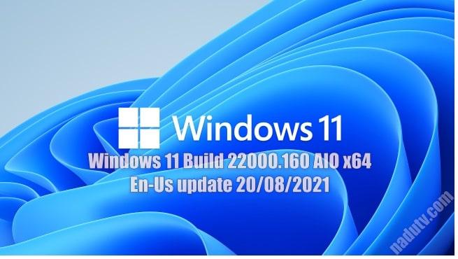 Windows 11 Build 22000.160 AIO x64 En-Us update 20/08/2021