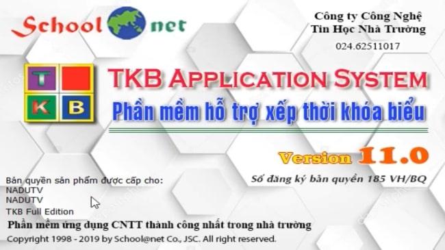 Phần mềm tạo thời khóa biểu TKB 11.0 cho giáo viên full key