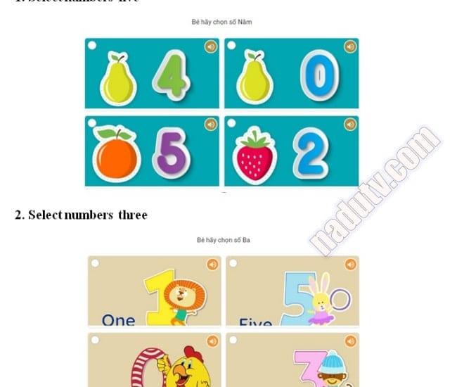Tài liệu lớp 1 cho bé
