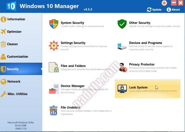 Phần mềm tùy chỉnh Windows 10