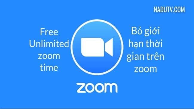 Tăng thời gian học trực tuyến trên phần mềm zoom